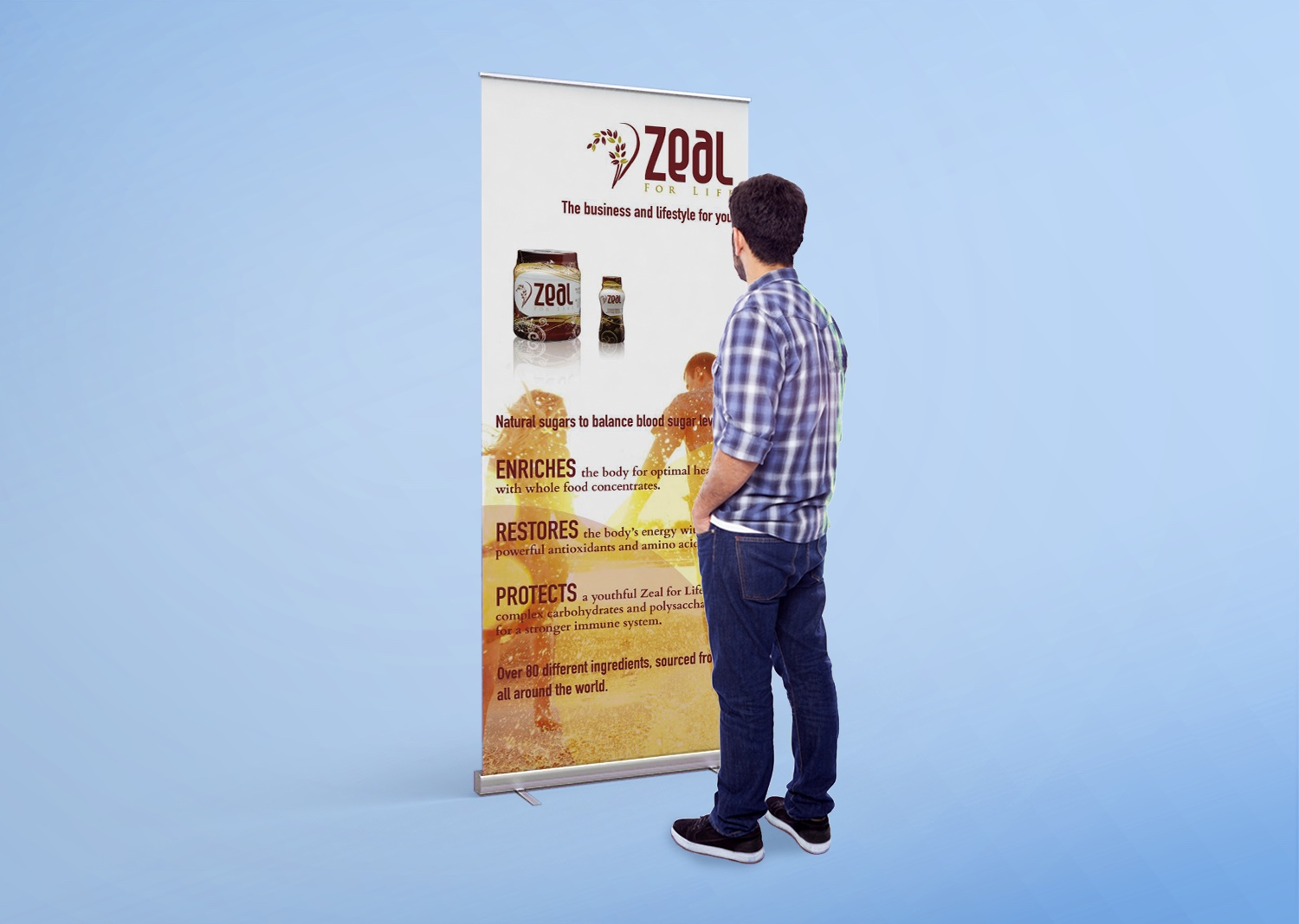 Roll Up! Roll Up! Network in style with a roll-up banner!