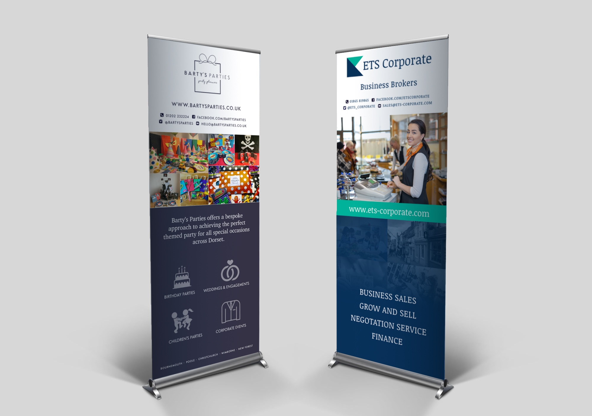 Showcase your business at exhibitions & events with a Roller Banner